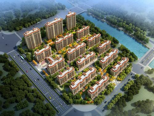 兴化文景园鸟瞰图